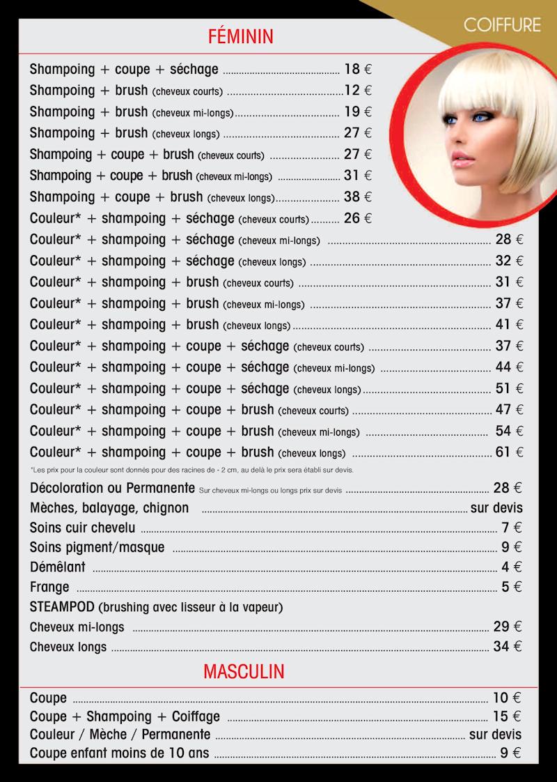 Salon de coiffure for Salon de coiffure tarif